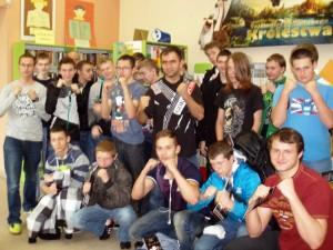 Spotkanie z uczniami 12 gimnazjum w łodzi