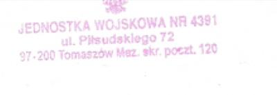 Jednostka Wojskowa nr 4391 w Tomaszowie Mazowieckim