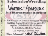 Certyfikat Representative Instructor w Combat Submission Wrestling