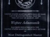 Nominacja do United States Hall of Fame jako Najwybitniejszy Mistrz sztuk walkdo United States Hall of Fame jako Najwybitniejszy Mistrz sztuk walk